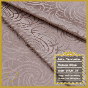 Upholstery Leather for Bed Backing Wall Decoration (Semi-PU)