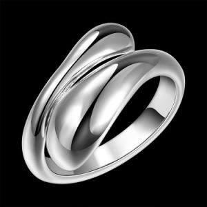 Simple Design Silver Plated Adjustable Ring Drop Shape Ring Jewelry pictures & photos