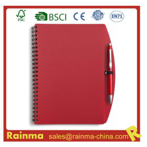 Red PVC Cover Notebook for School and Office Supply pictures & photos