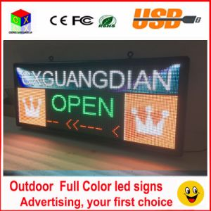 Outdoor P6 Full Color LED Sign 40′′x18′′ Support Scrolling Text LED Advertising Screen / Programmable Image Video LED Display pictures & photos