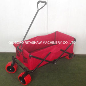 Pulling Along Hand Wagon Cart Beach Folding Cart Fw3018 pictures & photos