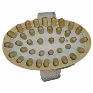 Bath Body Hand Held Back Wood Massager (JMHF-69) pictures & photos
