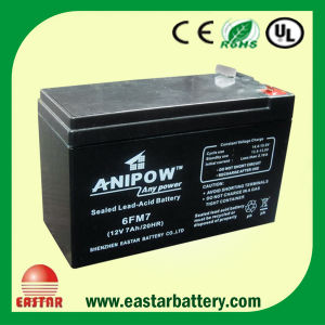 12V Rechargeable UPS Sealed Lead-Acid Battery 7ah/20hr pictures & photos