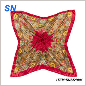 2015 Wholesale Newest Fashionable Square Silk Scarf pictures & photos