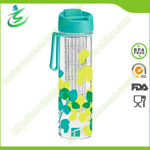 550ml Biocilicate Glass Water Bottle with Sleeve and Infuser pictures & photos
