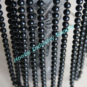 Black Color 8mm Beads Decorative Ornament Metal Beaded Chains