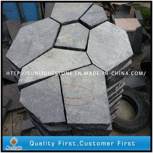 Natural Black Basalt Paving Stone or Irregular Flag Stone pictures & photos