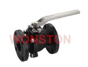 2PC Flanged End Ball Valve with Mounting Pad ANSI 150lbs Composite Casting pictures & photos