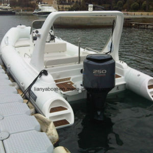 Liya 22ft Rigid Inflatable Boat Hypalon Rubber Boat with Motor for Sale pictures & photos