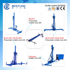 Quarry Stone Horizontal and Vertical Drilling Pneumatic Mobile Rock Drill pictures & photos