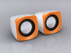 Square Notebook Speaker (S181-White+Yellow)