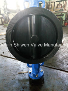 Awwa C504 Qt450 Wafer Type Butterfly Valve with Gear Actuator pictures & photos
