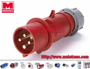32A 3p+PE IP44 European Standard Industrial Plug (MN3401)