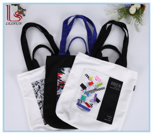 2017 Manufacturer OEM Logo Cotton Shoulder Tote Bags with Zipper pictures & photos