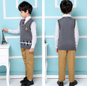 Factory Warm Unisex School Uniform Wool Winter Vest for Boys and Girls pictures & photos