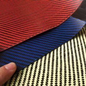 Kevlar Yellow and Black 3k 200g Fiber Cloth pictures & photos
