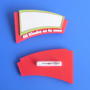Customized White Blank PVC Name Badge