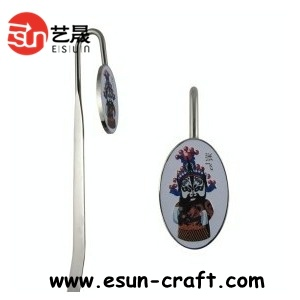 Custom Made Metal Logo Charms Zinc Alloy Custom Metal Bookmark, Personalized Logo (B036)