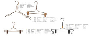Metal Clothes Hanger with Clips, Rack Garment Hangers, Wire Hanger pictures & photos