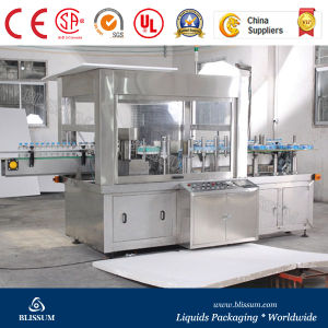 Automatic Line Roll-Fed Hot Melt Glue/OPP BOPP Labeling Machine (TBJ) pictures & photos