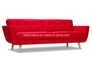 Modern Solid Wood Leg Retro Sofa pictures & photos