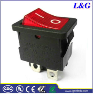 Coloured on-off Electronic Neon Light Rocker Switch for Socket