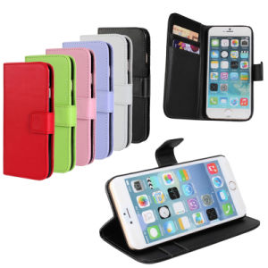 Flip Wallet PU Leather Stand Case Cover for iPhone 6 pictures & photos