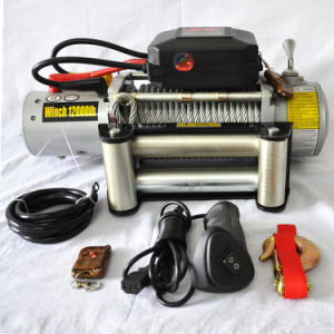 12V/24V Electric Winch 12000lb Electric Winch with High Torque Force Motor