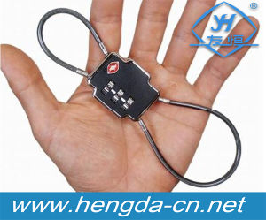 Yh1056 Resettable 3 Digit Combination Padlock Travel Luggage Two Side Cable Padlock pictures & photos