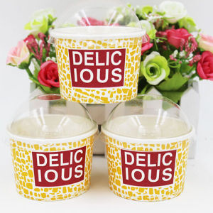 Factory Direct Sale Disposable Ice Cream Cup with Custom Printing pictures & photos