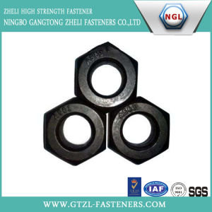 A563 High Strength Hex Nut with Black Finish pictures & photos