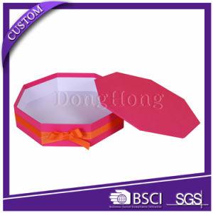 Custom High Quality Hexagon Shape Paper Set up Box pictures & photos