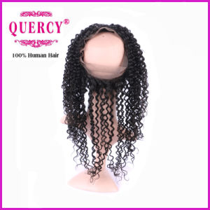 New Hot Sale Deep Curly Peruvian Virgin Remy Hair 360 Lace Frontal pictures & photos