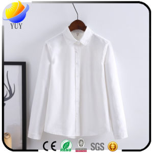 Wash Oxford Blouse Ladies Shirt with Casual Shirt pictures & photos