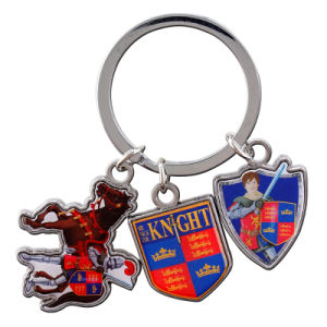 Promotional Custom Metal Keychain with Epoxy pictures & photos