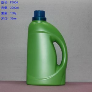 Green HDPE 2000ml Plastic Laundry Detergent Bottle with Cap pictures & photos