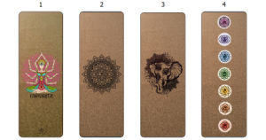 7 Chakra Custom Printed Eco Friendly Natural Rubber Cork Yoga Mat pictures & photos