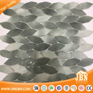 Leaf Shape American Recycle Inkjet Glass Mosaic (V626003) pictures & photos