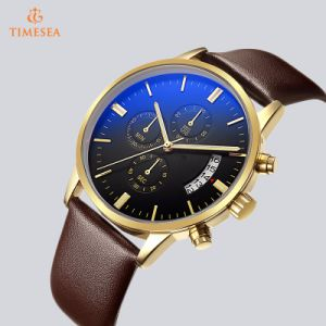 Stainless Steel Chronograph Wrist Watch with Leather Strap 72914 pictures & photos