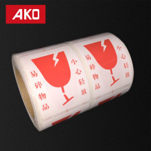 OEM Coated Art Paper Glassine Liner Hot Melt Self Adhesive Sticker Security Label pictures & photos