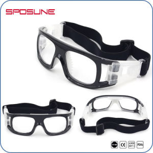 Trendy Prescription Dust Protective Safety Glasses Transparent Blue Frame Basketball Vollayball Goggles pictures & photos
