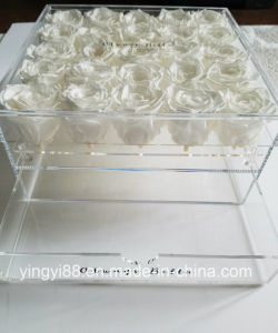 Hot Selling Acrylic Rose Box Crystal Flower Box Gift Box pictures & photos