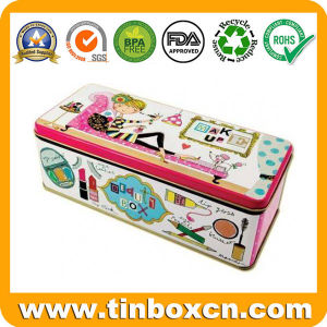 Rectangular Metal Tin Box for Women Cosmetics Storage Container pictures & photos