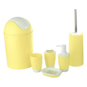 Jnzt-02 Houseware and Home Plastic Six Pieces Bath Accessories and Sets with Stock 500PCS a Colour pictures & photos