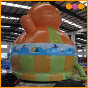 Realistic Low Price Inflatable Duck Moonwalk Bouncer (AQ349-6) pictures & photos