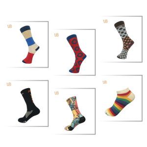 Lady′s Pattern Cotton Winter Socks pictures & photos