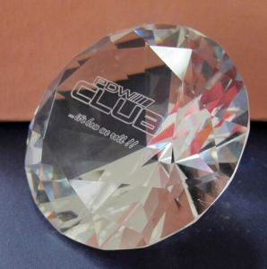 Crystal Glass Diamond with Sandblasting or Color Print pictures & photos