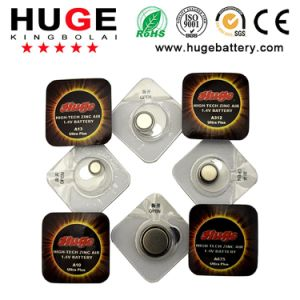1.4V Single Package Hearing Aid Battery Button Cell Battery (A10/A13/A312/A675) pictures & photos