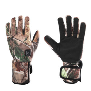 Battery Heated Hunting fishing Gloves With Smart Dual Charger real tree camo 3 levels control (S19C) pictures & photos