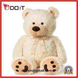 Customized Dark Brown Giant Stuffed Soft Plush Teddy Bear with Bow pictures & photos